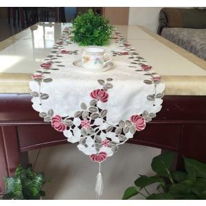 テーブルランナー 牡丹の花蕾 カットワーク刺繍 40×200cm  #618|rose-viva-shop