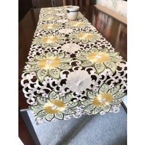 テーブルランナー ダリアお花 ALLカット ワーク刺繍薔薇 33×175cm  #401 rose-viva-shop