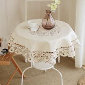 円形 テーブルクロス85cm ベージュ  010|rose-viva-shop