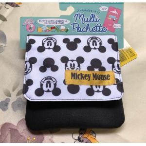 完売 送料込み:ミッキーマウス キャラクター移動ポケット 移動ポーチ柄 ショルダーストラップ付|rose-viva-shop