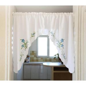 完売 送料込み 2枚セット のれん風カフェカーテン 横75×100cmの2枚 お徳|rose-viva-shop