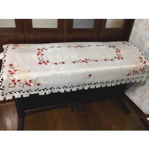 送料込み:85X150cm  カットワーク刺繍 電子ピアノカバー ダリア|rose-viva-shop