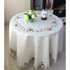 -テーブルクロス円形180cm カットワーク刺繍  薔薇 #615|rose-viva-shop