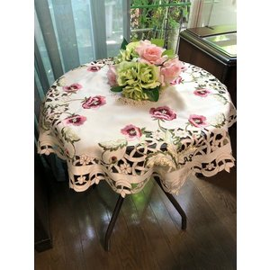 円形 テーブルクロス85cm #229 薔薇のお花|rose-viva-shop
