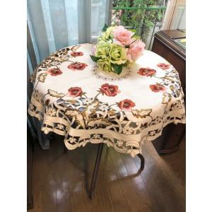 円形 テーブルクロス85cm #239 薔薇の花|rose-viva-shop