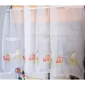 2枚セット カフェレースカーテン 60×100cm  フルーツ|rose-viva-shop