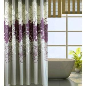 完売 バス、シャワーカーテン150×180cm牡丹ノ花 紫|rose-viva-shop