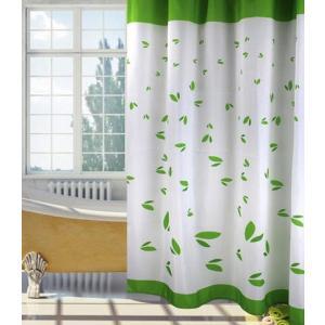 バス、シャワーカーテン150×180cm◇ グリーン葉|rose-viva-shop