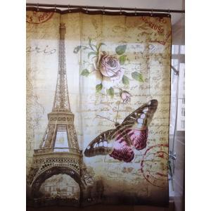 バス、シャワーカーテン180×180cm◇エッフェル塔|rose-viva-shop
