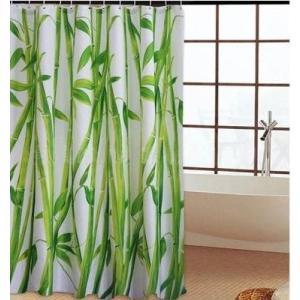 バス、シャワーカーテン180×180cm◇緑色の竹林|rose-viva-shop