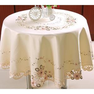 テーブルクロス 円形 150cm  薄ピンク  #106|rose-viva-shop