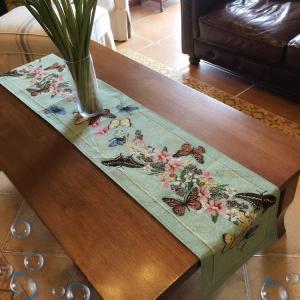 --ヨーロッパ風 greenテーブルランナー33*180cm 蝶々|rose-viva-shop