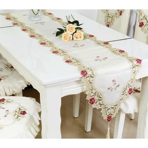 完売 テーブルランナー 40×180cm 小薔薇満開 カットワーク刺繍  #810|rose-viva-shop
