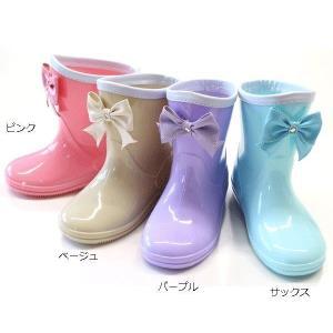 【送料無料】【GAME】リボン付き レインブーツ 長靴 レイ...