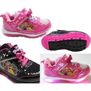 光る靴 ディズニー ディズニー プリンセス Disney ディズニー 靴 女の子 マジック スリッポン キッズスニーカー 子供靴 7224|rosecat|02