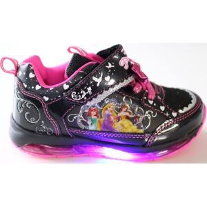 光る靴 ディズニー ディズニー プリンセス Disney ディズニー 靴 女の子 マジック スリッポン キッズスニーカー 子供靴 7224|rosecat|03