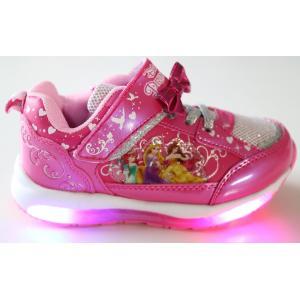 光る靴 ディズニー ディズニー プリンセス Disney ディズニー 靴 女の子 マジック スリッポン キッズスニーカー 子供靴 7224|rosecat|04