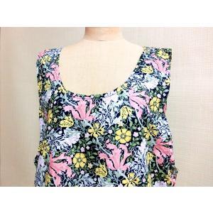 エプロン おしゃれな花柄  Mサイズ |rosedeco