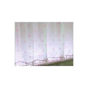 出窓カーテン 腰高窓カーテン レースカーテン ピンク  姫系 北欧 花柄 フリル 手作り おしゃれ フェミニン ガーリー 幅182×丈113cm|rosedeco