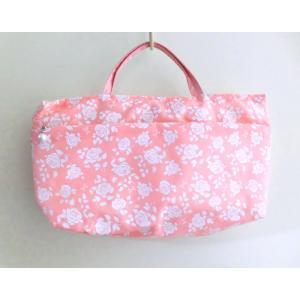 ローズバック ミニ薔薇柄 ピンク かわいい ヨコ32cmタテ19cmマチ7cm|rosedeco
