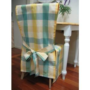 ハンドメイドの椅子カバー (1人用)|rosedeco