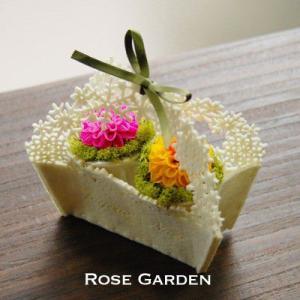 プチギフト ダリア  クリスマスプレゼント フェルトバスケット 誕生日|rosegarden