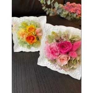 エレガントフレーム S 母の日バラのギフト クリアケース付き ピンク イエロー|rosegarden