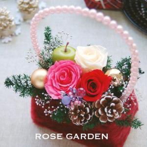 誕生日プレゼント ファーバック風プリザーブドフラワーギフト Mサイズ メッセージカードつき|rosegarden
