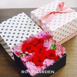 送料無料!サプライズプレゼント フラワーボックスシリーズ バラ レッド&ピンク|rosegarden