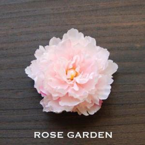 【結婚式2次会、成人式のヘアアクセ】ピオニー・ピンクコサージュ|rosegarden