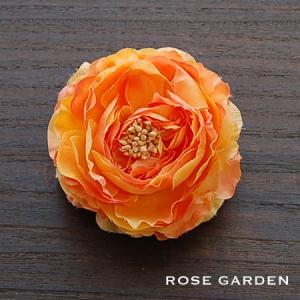 【結婚式2次会、成人式のヘアアクセ】ラナンキュラス・オレンジ コサージュ|rosegarden