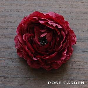 【結婚式2次会、成人式のヘアアクセ】ラナンキュラス・バイオレッド コサージュ|rosegarden