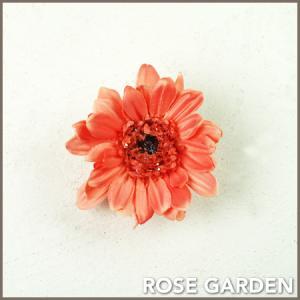 【結婚式2次会、成人式のヘアアクセ】ガーベラ・ピンク コサージュ|rosegarden