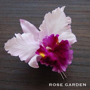 【結婚式2次会、成人式のヘアアクセ】カトレア コサージュ|rosegarden