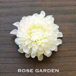 【結婚式2次会、成人式のヘアアクセ】ダリア ホワイト コサージュ|rosegarden