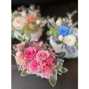 【送料無料】フレンチカントリー 花柄陶器モダンバラアレンジ  母の日ギフト rosegarden