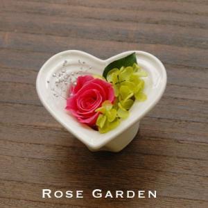 ハートシリーズS バラのプリザーブドフラワー 母の日・誕生日・御出産・ギフト|rosegarden