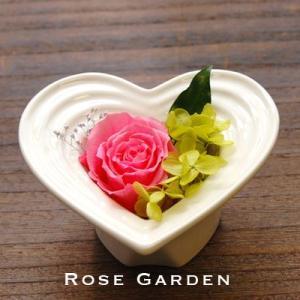 ハートシリーズM バラのプリザーブドフラワー 母の日・誕生日・御出産・ギフト|rosegarden