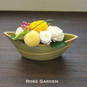 バラの和風プリザーブドフラワーS 桃 みかん 松葉(あすつくOK)|rosegarden|02