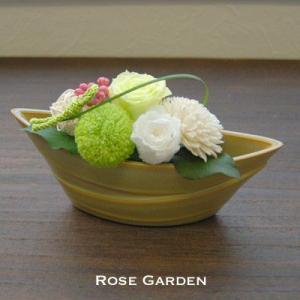 バラの和風プリザーブドフラワーS 桃 みかん 松葉(あすつくOK)|rosegarden|03