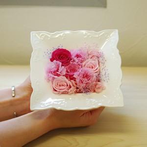 エレガントフレーム L 母の日バラのギフト クリアケース付き ピンク イエロー|rosegarden