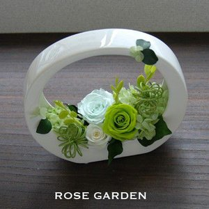 バラのプリザーブドフラワーギフト ループグリーン(あすつく)|rosegarden