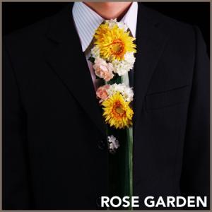 【お花のネクタイ】フラワーネクタイ イエロー (造花のアレンジメント)|rosegarden