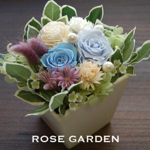 プリザーブドフラワーギフト 結婚のお祝い 誕生日プレゼントなど・スクエア型の器|rosegarden|03