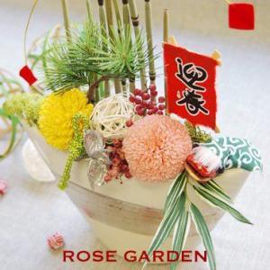 【送料無料☆お正月】 和風 松 プリザーブドフラワーのアレンジ|rosegarden