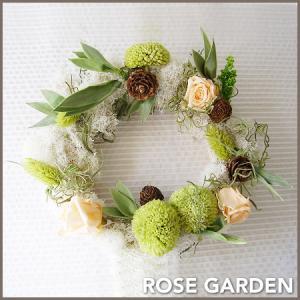 【リース】プリザーブドフラワーのアレンジメント|rosegarden