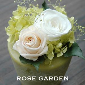 【アロマワックスベース】バラのプリザーブドフラワー グリーン(緑)|rosegarden