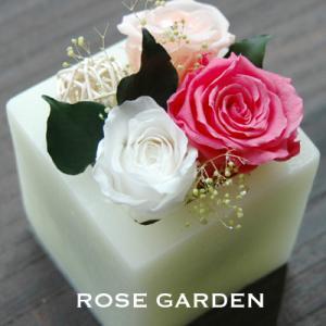 【アロマワックスベース】バラのプリザーブドフラワー ホワイト(白)|rosegarden