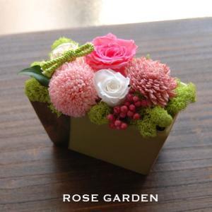 バラの和風モダンプリザーブドフラワーピスタチオ(あすつくOK)|rosegarden