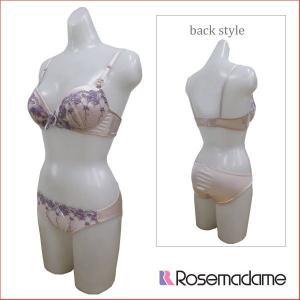 ママ 産後 授乳ブラジャー&ショーツ 上下セット かわいい ローズマダム 2988|rosemadame